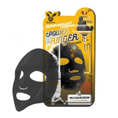 Тканевая маска для лица Elizavecca с Black Charcoal Honey Deep Power Ringer Mask Pack
